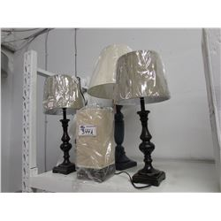 4 NEW ASSORTED LAMPS