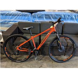 ORANGE/BLACK ORBEA MXDX29 18-SPEED MOUNTAIN BIKE WITH FRONT/REAR DISC BRAKES