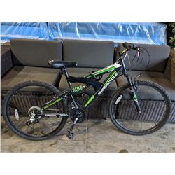 GREEN/BLACK SUPERCYCLE VICE 18-SPEED MOUNTAIN BIKE