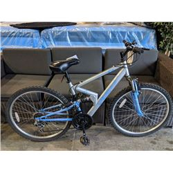 BLUE/SILVER FS26 APOLLO 18-SPEED MOUNTAIN BIKE