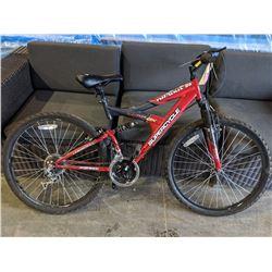 RED/BLACK SUPERCYCLE NITROUS 2G 21-SPEED MOUNTAIN BIKE WITH DUAL SUSPENSION