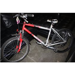 RED/GREY BANFF 21-SPEED MOUNTAIN BIKE