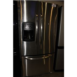 STAINLESS STEEL MAYTAG TWO-DOOR FRIDGE/FREEZER WITH WATER AND ICE