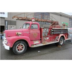 1956 INTERNATIONAL 2WHDR, PUMPER, RED, GAS, AUTOMATIC, VIN#R18561075C, TMU, *MUST TOW* OOP