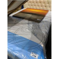 QUEEN SIZE SERTA MATTRESS WITH BOX SPRING