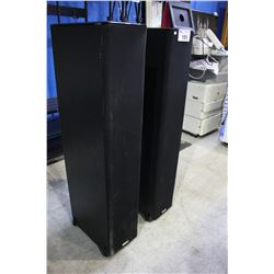 PAIR OF BLACK POLKAUDIO SPEAKERS MODEL# TSI500