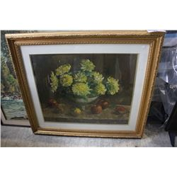 "LARGE ""FLOWERS"" FRAMED PAINTING"