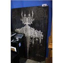 "LARGE ""CHANDELIER"" PRINT ON CANVAS"