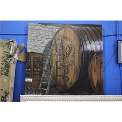 LARGE CANVAS PRINT - WINE BARRELS