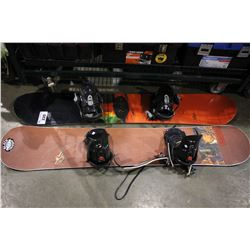 PAIR OF SNOWBOARDS WITH BINDINGS