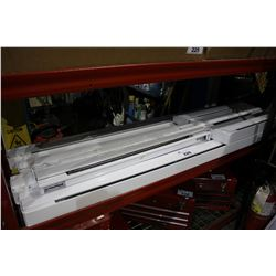 SHELF LOT OF ASSORTED ELECTRIC BASEBOARD HEATERS