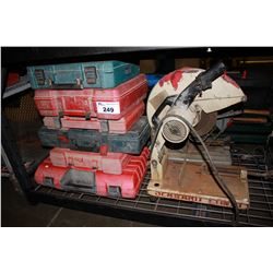 ASSORTED TOOL CASES, TOOLS & CHOP SAW