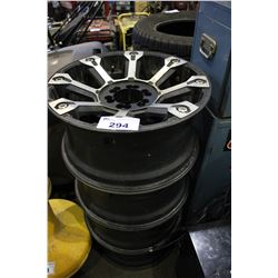 SET OF 4 METAL TRUCK RIMS