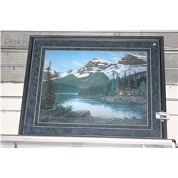 "LIMITED EDITION PRINT TITLED ""MOUNTAIN SERENITY"" BY FRED BUCHWITZ WITH CERTIFICATE OF AUTHENTICITY"