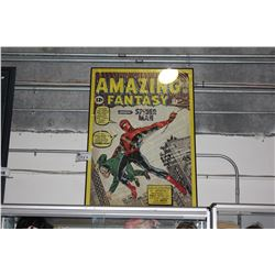 "FRAMED ""AMAZING FANTASY SPIDERMAN"" COMIC COVER POSTER"