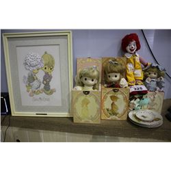 LOT OF ASSORTED COLLECTABLE DOLLS & PLATES