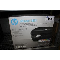 HP OFFICEJET 3833 ALL IN ONE PRINTER