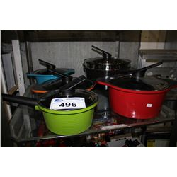 ASSORTED HAPPYCALL COOKING POTS