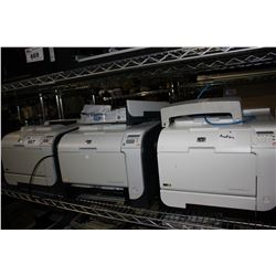 HP LASERJET PRO 400 PRINTER, TWO HP COLOR LASERJET CP2025 PRINTERS