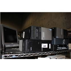 LARGE LOT OF COMPUTER TOWERS, MONITORS AND MORE