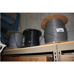 THREE LARGE SPOOLS OF WIRE