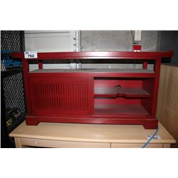 RED WOOD ENTERTAINMENT STAND