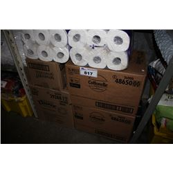 LARGE SHELF LOT OF TOILET PAPER, KLEENEX, DIAPERS