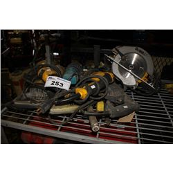 LOT OF ASSORTED POWER TOOLS