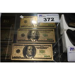 3 - $100 US NOVELTY COLLECTOR BILLS