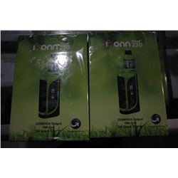 PAIR OF ELEAF IKONN 220 WATT VAPORIZERS WITH ATOMIZER, TRIPLE & QUAD HEADS