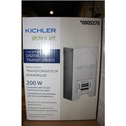 KICHLER SHOWSCAPE LOW VOLTAGE DIGITAL TRANSFORMER 200W