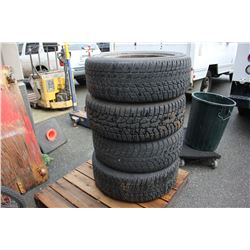 FOUR TIRES WITH RIMS P275/55R20
