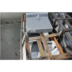 CRATE OF STONE SLABS