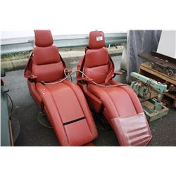 TWO RED ELEGANT DENTIST CHAIRS