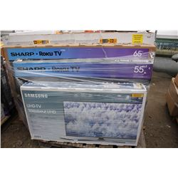 PALLET OF TVS - FOR PARTS AND REPAIR