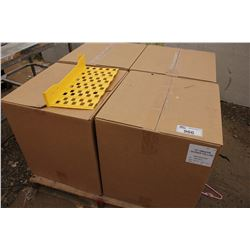 4 BOXES OF 18 INCH YELLOW DIVIDERS