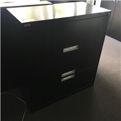 2 3 DRAWER BLACK LATERAL FILE CABINETS