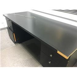 6' BLACK DOUBLE PEDESTAL COMPUTER DESK