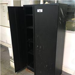 BLACK DOUBLE DOOR STORAGE CABINET