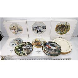 LOT OF 5 COLLECTOR PLATES IN BOXES AND MORE