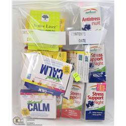 BAG OF ASSORTED SLEEP/ STRESS SUPPORT PILLS