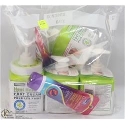 BAG OF ASSORTED FOOT CREAMS