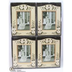 "LOT OF 4 PHOTO FRAMES (5"" X 7"")"