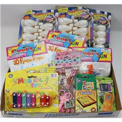 FLAT OF KIDS TOYS INCLUDING XYLOPHONES, BOWLING