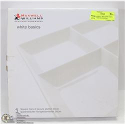NEW MAXWELL WILLIAMS WHITE BASIC 4 SQUARE SERVING