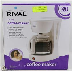 NEW RIVAL 12 CUP COFFEE MAKER