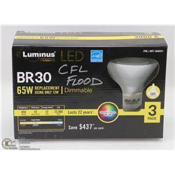 3 PACK OF LUMINUS LED LIGHTBULBS
