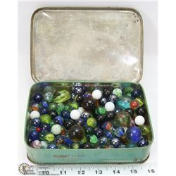RILEYS TOFFEE TIN FULL OF MARBLES