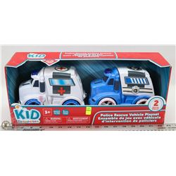KID CONNECTION POLICE RESCUE VEHICLE PLAYSET