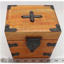 "CEDAR CHEST TRINKET BOX - 6""W X 6""D X 5""H."